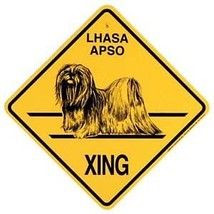 Lhasa Apso  Xing Sign Dog Crossing  Sign NEW - $7.25