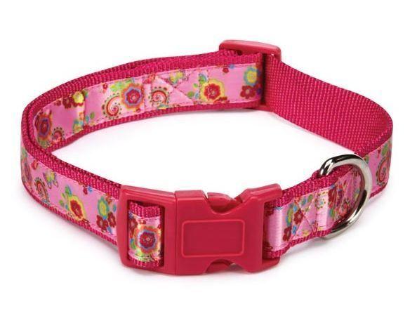 Spring Garden Dog Collar Pink  Dog Collars Zack & Zoey Nylon floral - $10.99