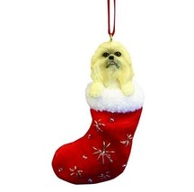 POMERANIAN DOG STOCKING CHRISTMAS SANTA'S LITTLE PALS ORNAMENT HOLIDAY - $9.28
