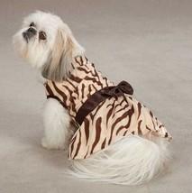 Dog Mariah Zebra Dress East Side Collection Dog brown  XXS-M animal print  - $17.99+
