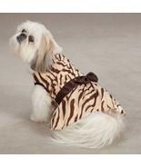 Dog Mariah Zebra Dress East Side Collection Dog brown  XXS-M animal print  - $17.99 - $18.99