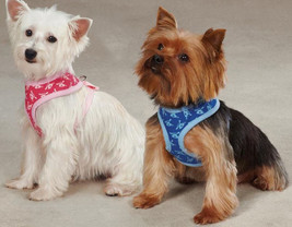 Soft Fabric Dog is Good Bolo  Dog Harness  Harnesses Pink Blue - $14.99
