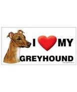 I Love My Greyhound  Car Magnet 8x4 Dog Sign - $5.89