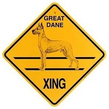 Great Dane   Xing Sign Dog Crossing NEW cropped ears - $7.25