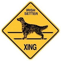 Irish Setter  Xing Sign Dog Crossing NEW - $7.25