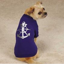 All Paws on Deck Dog T-Shirt Tee Top Anchor Pet Navy Nautical Sailor  XXS - XL - $12.99+