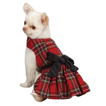 East Side Collection Holiday Tartan Dog Dress Red Pet Christmas Plaid - $14.99