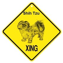 Shih Tzu Puppy Cut Xing Sign Dog Crossing NEW - $7.25