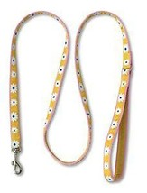 Doggles Dog Leash Lead 4 foot pink/yellow flowers - $12.64