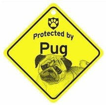 Protected by Pug  Dog Car Window Sign - $4.75