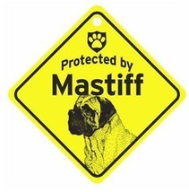 Protected by Mastiff  Dog Car Window Sign - $4.75