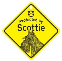 Protected by Scottie  Dog Car Window Sign - $4.75