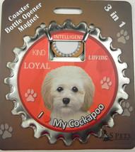 Cockapoo dog coaster magnet bottle opener Bottle Ninjas magnetic - $9.46