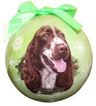 SPRINGER SPANIEL CHRISTMAS BALL ORNAMENT DOG HOLIDAY XMAS PET LOVERS GIFT - $10.36