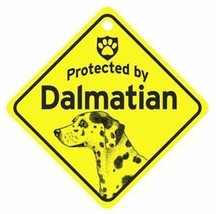 Protected by  Dalmatian  Dog Car Window Sign - $4.75