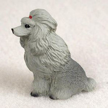 Poodle Gray Tiny Ones Dog Figurine Statue Pet Lovers Gift Resin - $8.99