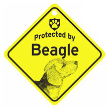 Protected by Beagle Dog Car Window Sign - $4.75