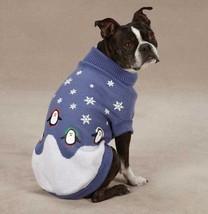 Blizzard Buddies  Penguin Sweater Pet  Dog Knit Top Shirt  XXS-L  Blue S... - $16.99