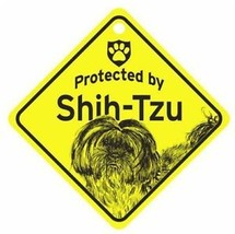 Protected by Shih Tzu  Dog Car Window Sign - $4.75