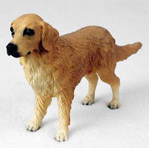 GOLDEN RETRIEVER DOG Figurine Statue Hand Painted Resin Gift Pet Lovers - $15.66
