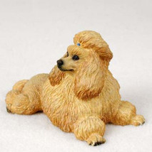 Poodle Apricot Dog Figurine Statue Hand Painted Resin Gift Pet Lovers - $15.66