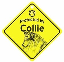 Protected by  Collie  Dog Car Window Sign - $4.75