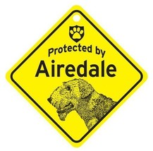 Protected by Airedale  Dog Car Window Sign - $4.75