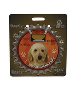 Labradoodle (yellow) dog coaster magnet bottle opener Bottle Ninjas magn... - $9.46