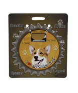 Welsh Corgi dog coaster magnet bottle opener Bottle Ninjas - $9.46
