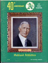 1969 Oakland Athletics A's Yearbook Major League Baseball Program Jackso... - $15.00