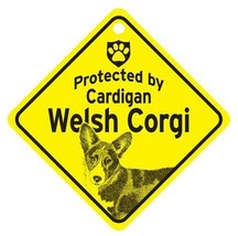 Protected by Cardigan Welsh Corgi  Dog Car Window Sign - $4.75