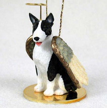 BULL TERRIER ANGEL DOG CHRISTMAS ORNAMENT HOLIDAY  Figurine Statue  Brindle - $12.35