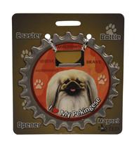 Pekingese dog coaster magnet bottle opener Bottle Ninjas magnetic - $9.46