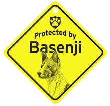 Protected by Basenji  Dog Car Window Sign - $4.75