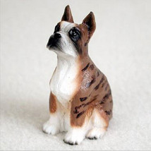 Boxer (Cropped Ears Brindle) Tiny Ones Dog Figurine Statue Pet Lovers Gift Resin - $8.99