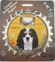 Cavalier (tri) dog coaster magnet bottle opener Bottle Ninjas magnetic - $9.46