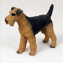 Airedale Terrier Dog Figurine Statue Hand Painted Resin Gift Pet Lovers - $15.66