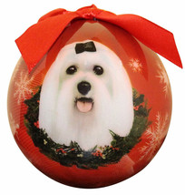 MALTESE CHRISTMAS BALL ORNAMENT DOG HOLIDAY XMAS PET LOVERS GIFT - $10.36