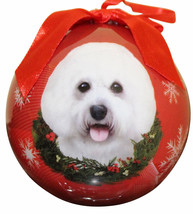 BICHON FRISE CHRISTMAS BALL ORNAMENT DOG HOLIDAY XMAS PET LOVERS GIFT - $10.36