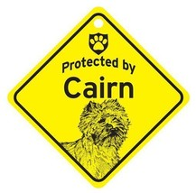 Protected by Cairn  Dog Car Window Sign - $4.75