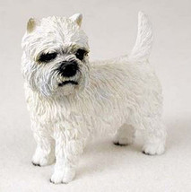 WESTIE DOG Figurine Statue Hand Painted Resin Gift Pet West Highland Terrier - $15.66