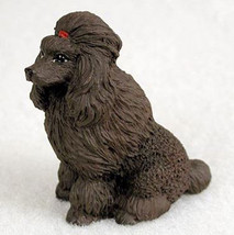 Poodle Chocolate Tiny Ones Dog Figurine Statue Pet Lovers Gift Resin - $8.99