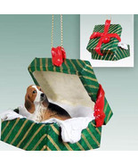 BASSET HOUND DOG CHRISTMAS GIFT BOX ORNAMENT HOLIDAY Present XMAS gift - $13.98