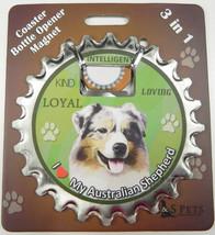 Australian Shepherd dog coaster magnet bottle opener Bottle Ninjas magnetic - $9.46