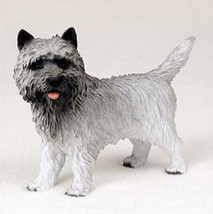 Cairn Terrier (Gray) Dog Figurine Statue Hand Painted Resin Gift Pet Lovers - $15.66