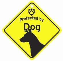 Protected by  Dog Car Window Sign - $4.75