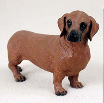 DACHSHUND (RED) DOG Figurine Statue Hand Painted Resin Gift Pet Lovers Tan - $15.66