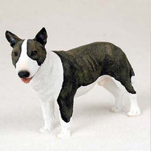 BULL TERRIER DOG Figurine Statue Hand Painted Resin Gift Pet Lovers Brindle - $15.66