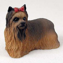 YORKIE DOG Figurine Statue Hand Painted Resin Yorkshire Terrier Gift Pet Lovers - $15.66