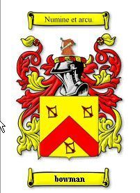 BOWMAN Coat of Arms Surname Print - Genealogy Bonanza